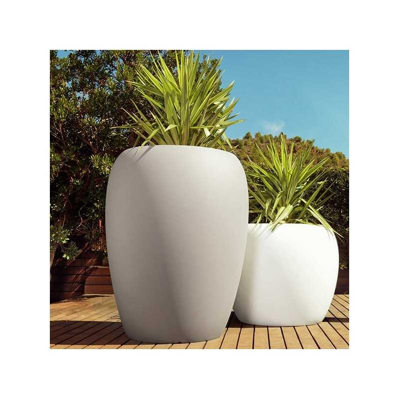 Blow Pot 120 Lacquered Big Outdoor Polyethylene Planter Shiny Finish