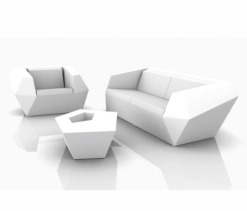 FAZ Sofa Left Matt Polyethylene Outdoor Design Lounge Couch Vondom