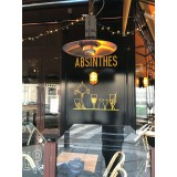 Spider Hanging Patio Gas Heater for Cafe, Bar, Restaurant