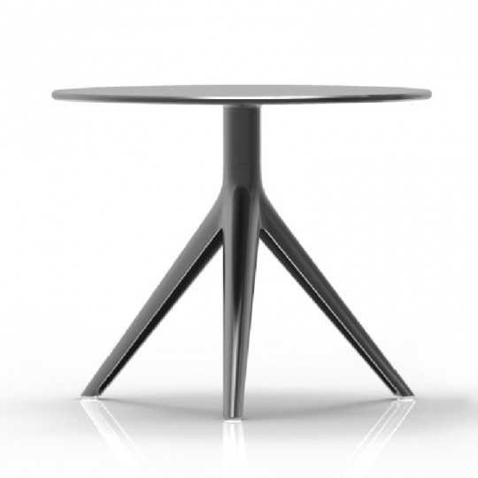 MARI-SOL 3 Small Round Coffee Table Black with black edge HPL Table Top