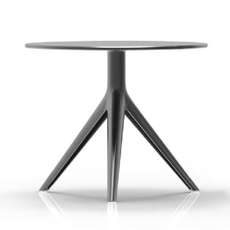 Mari Sol 3 Small Round Coffee Table Black Or White Hpl Table Top