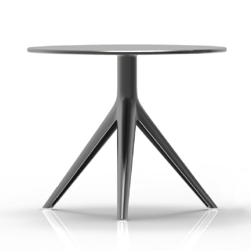 ... MARI SOL 3 Small Round Coffee Table Black With Black Edge HPL Table Top