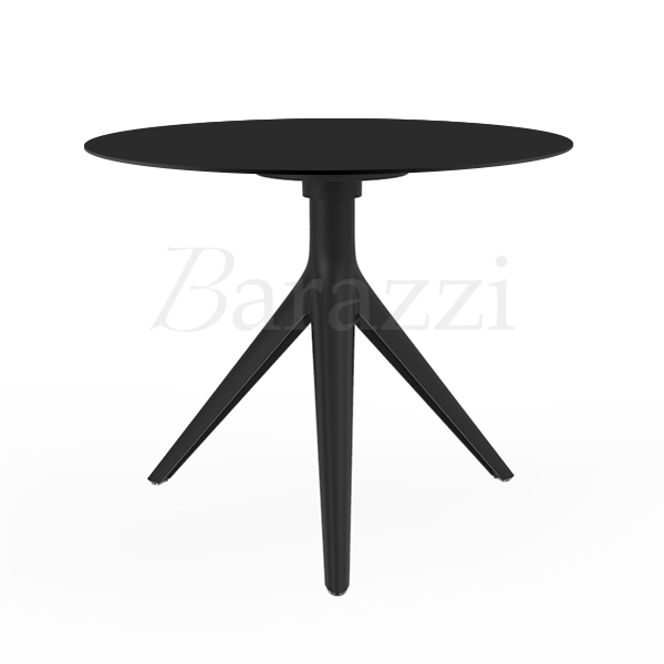Mari sol 3 small round coffee table black or white hpl for Small round black coffee table