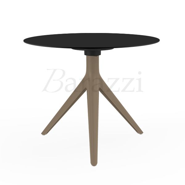 ... MARI SOL Round Table With 3 Legs Sand Structure Black Table Top Made In  Europe ...