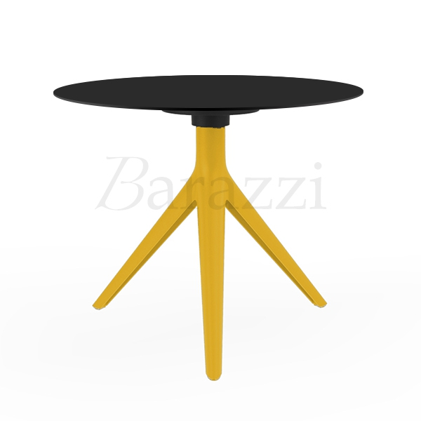 Round 3 Round Coffee Table Made Of Metal Cm ø80x23h: Coffee Table Black Or White HPL
