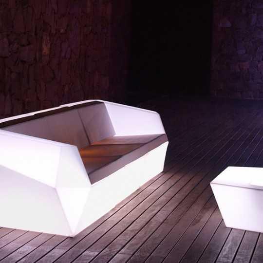 Left Module White Illuminated Vondom Faz Sofa