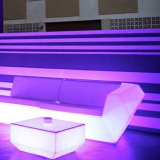 Faz Sofa Left Luz Multicolor Led Light Seat by Vondom