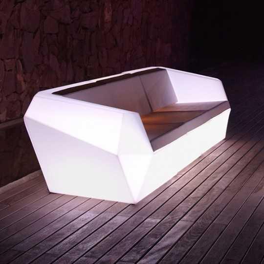 Right Module White Light Vondom Faz Sofa