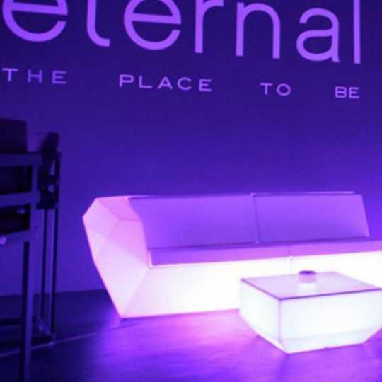 Faz Sofa Right Luz Multicolor Led Light Couch by Vondom