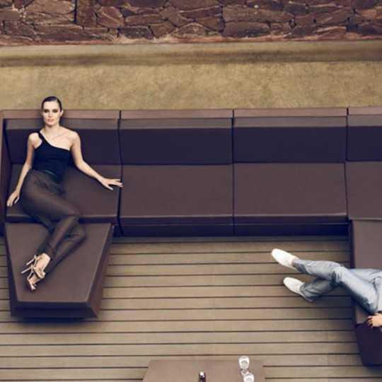 Lacquered Faz Sofa Sectional Armless Bronze Vondom