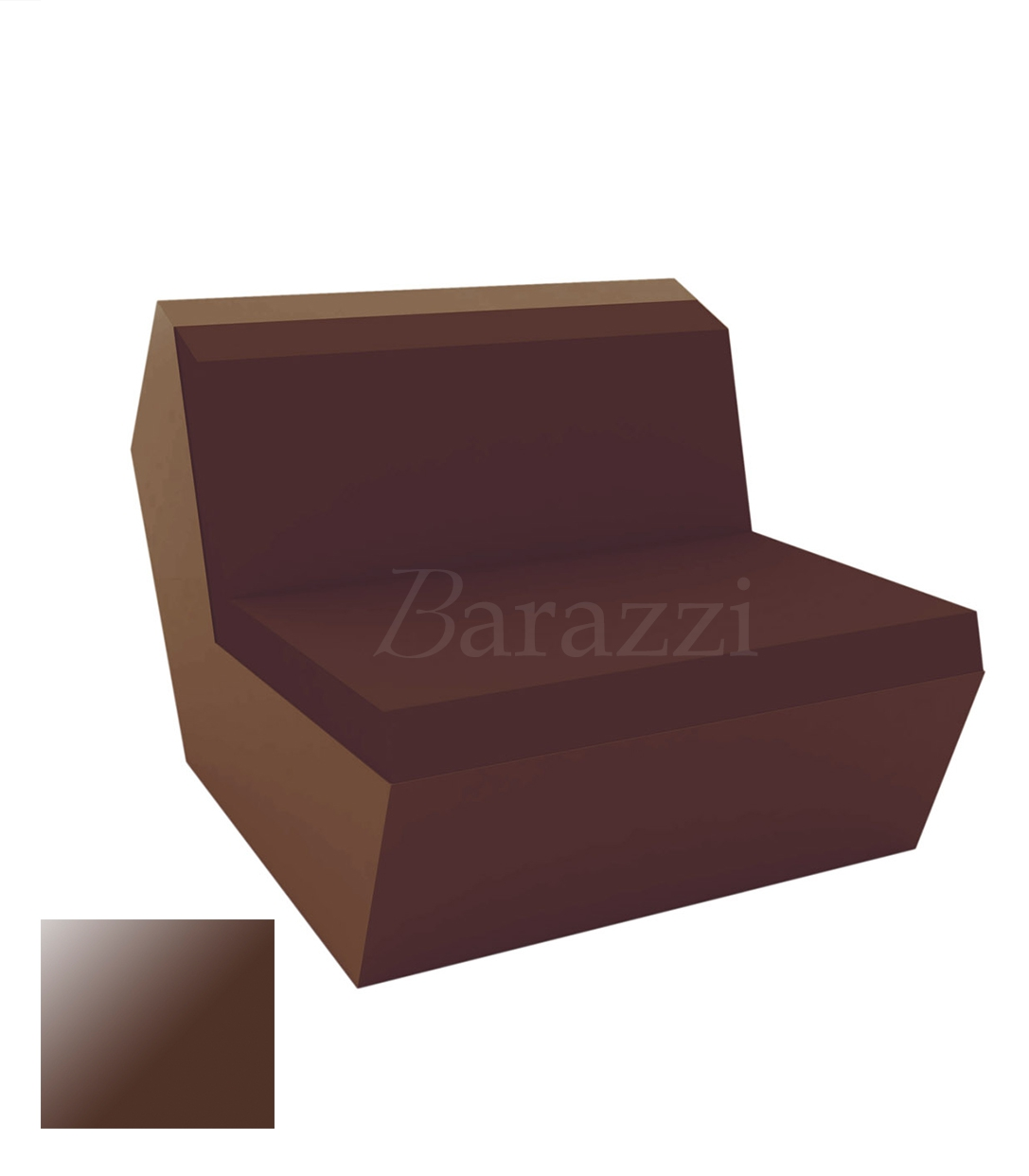 FAZ Outdoor Armless Lacquered Sofa with Cutting and Glossy Surface - ... FAZ Sofa Armless Bronze Lacquered Polyethylene Vondom ...