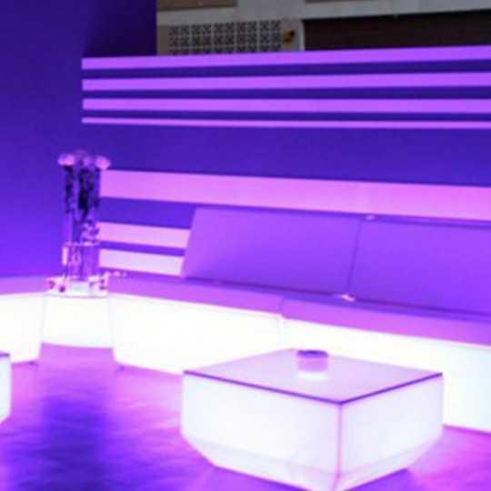 Faz Sofa Armless RGB Multicolor Led Light Seat by Vondom