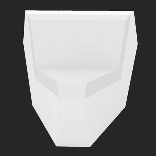 Faz Sofa Corner 45 White Led Light Seat by Vondom