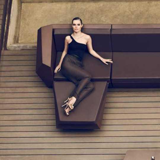 Lacquered Faz Sofa Sectional Chaiselongue Bronze Vondom