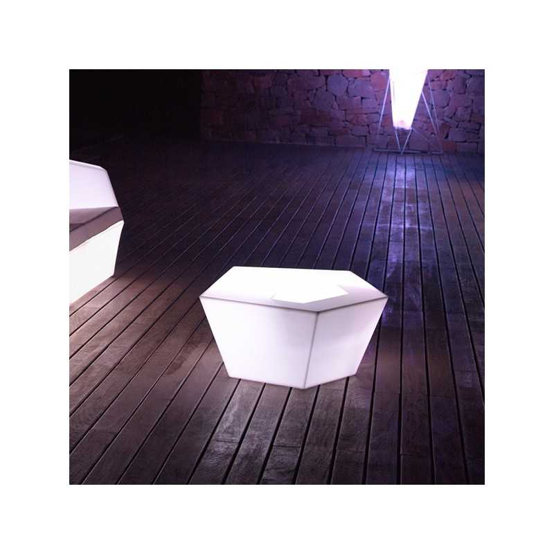 Faz Coffee Table Outdoor Table With White Led Light Glass Bucket
