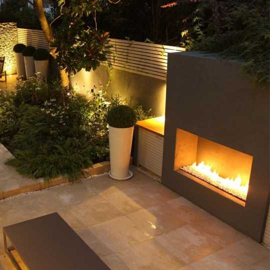 Focus 180 Linear Wide Outdoor Gas Fireplace 180cm