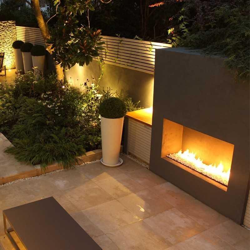 Focus 180 Linear Wide Outdoor Gas Fireplace 180cm
