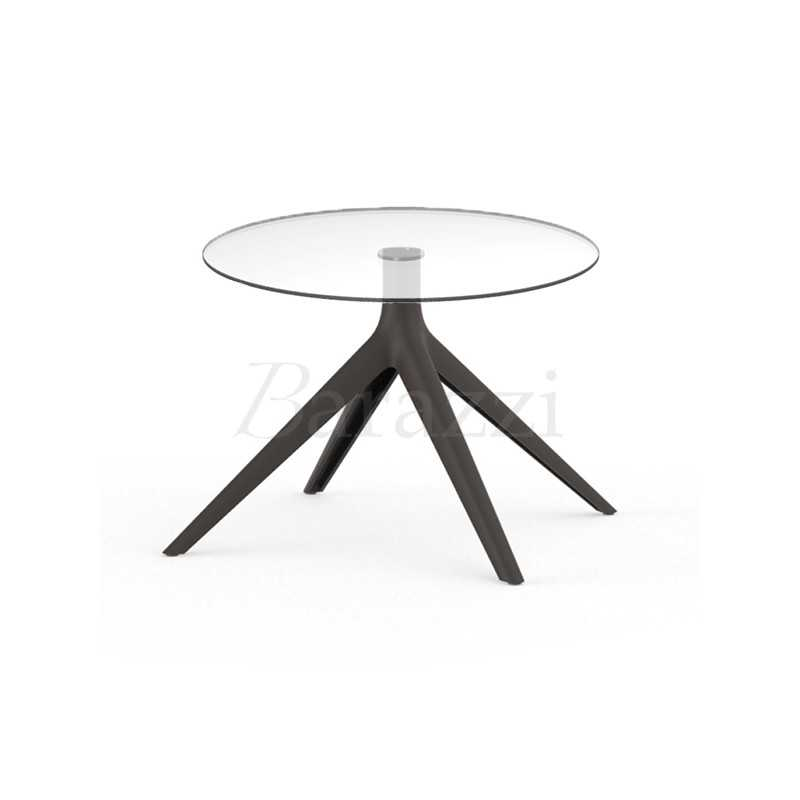 Mari Sol Indoor And Outdoor Round Glass Side Table With 4 Legs