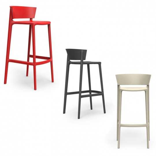 AFRICA 95 Stackable High Seat Bar Stools by Vondom 7 colors available