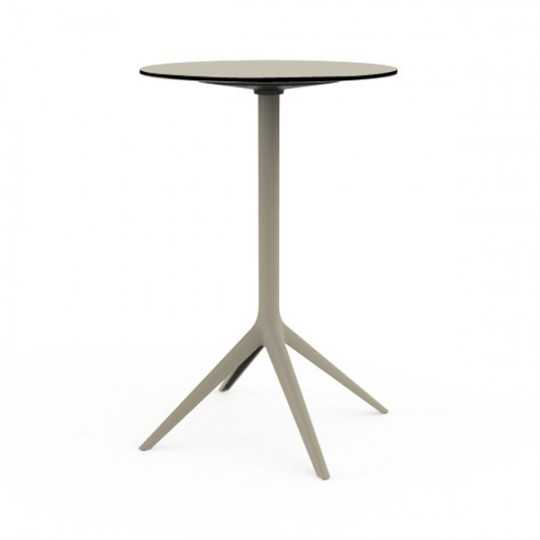 MARI-SOL Large Round High Bar Table 4 Legs by Vondom