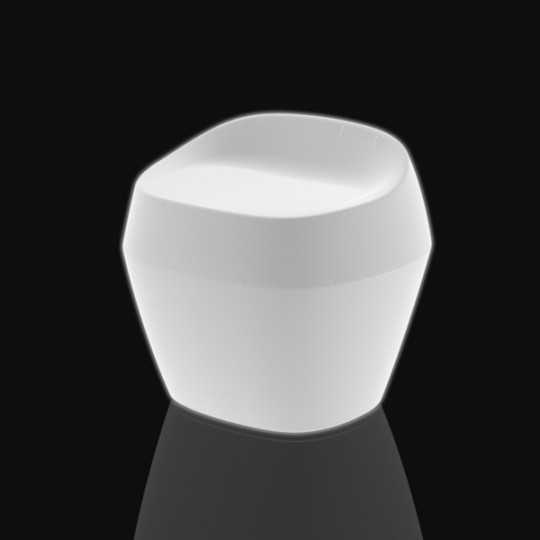 Moma Medium Chair White Led Light Seat by Vondom