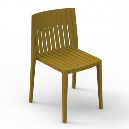 SPRITZ Chair Stackable Seat Mustard Color Vondom