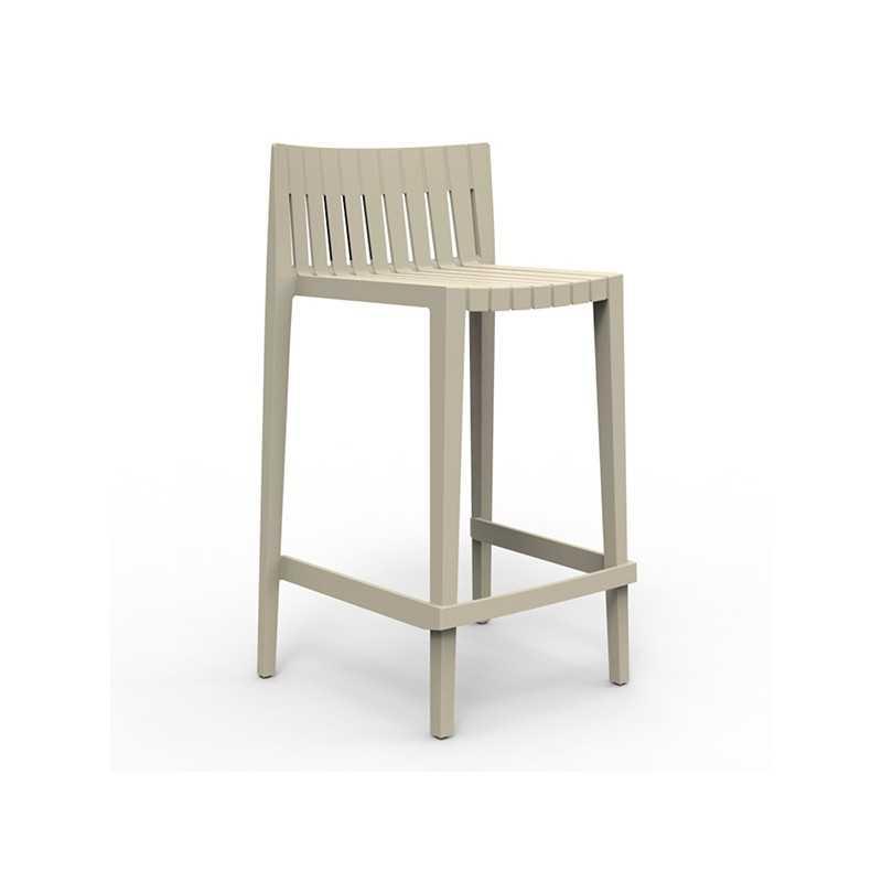 SPRITZ Stool Bar 87 Stackable Seat Sable Color Vondom