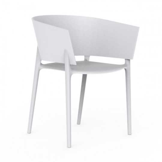 AFRICA Chair Stackable Seat White Color Vondom
