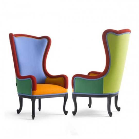 ALLEGRA Elegant Colorful Baroque Armchair