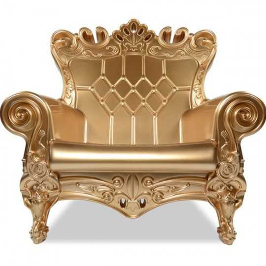 QUEEN OF LOVE Lacquered - Polyethylene Throne Armchair Glossy Effect