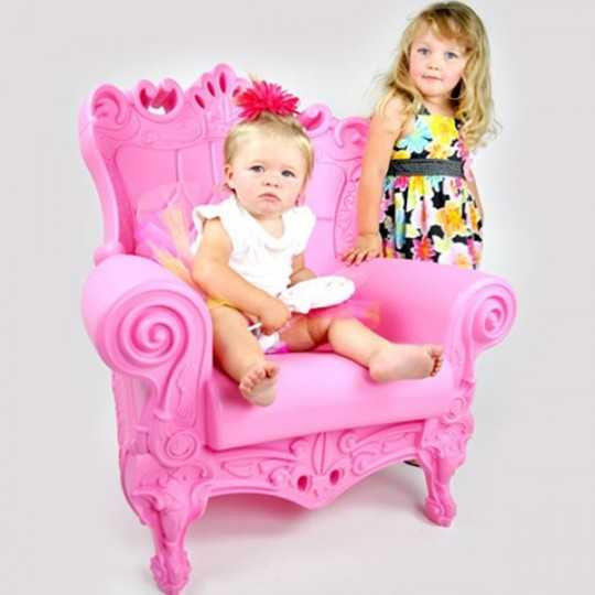 Armchair Matt Color Pink special request Little Queen of Love Slide Design