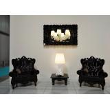 Mirror M Lacquered Color Black Baroque Mirror of Love Slide Design