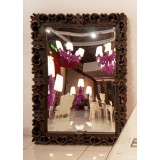 Mirror XL Lacquered Color Chocolate Brown Mirror of Love Slide Design