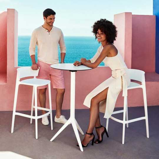 AFRICA 95 Stackable High Seat Bar Stools by Vondom
