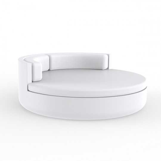 ULM Daybed Large Round Outdoor Sofa with Comfort Backrest by Vondom