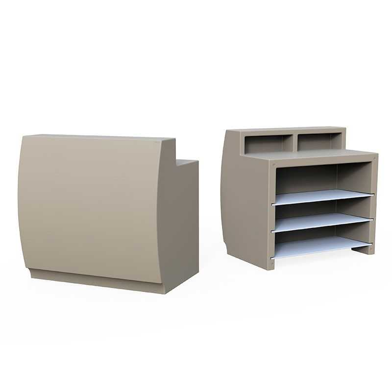 FIESTA 120 Matt Modular Bar Counter with fixed Up Shelves for Drinks Preparation and Storage