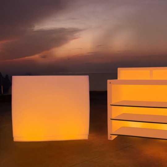 FIESTA 120 RGB LED Light Multicolor Straight Bar Modular with Storage by Vondom