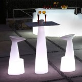 Hopla - Table Ronde pied Conique - Slide Design