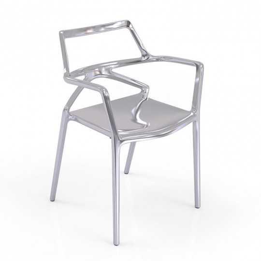 DELTA SILVER Chair Metallic Silver - Vondom