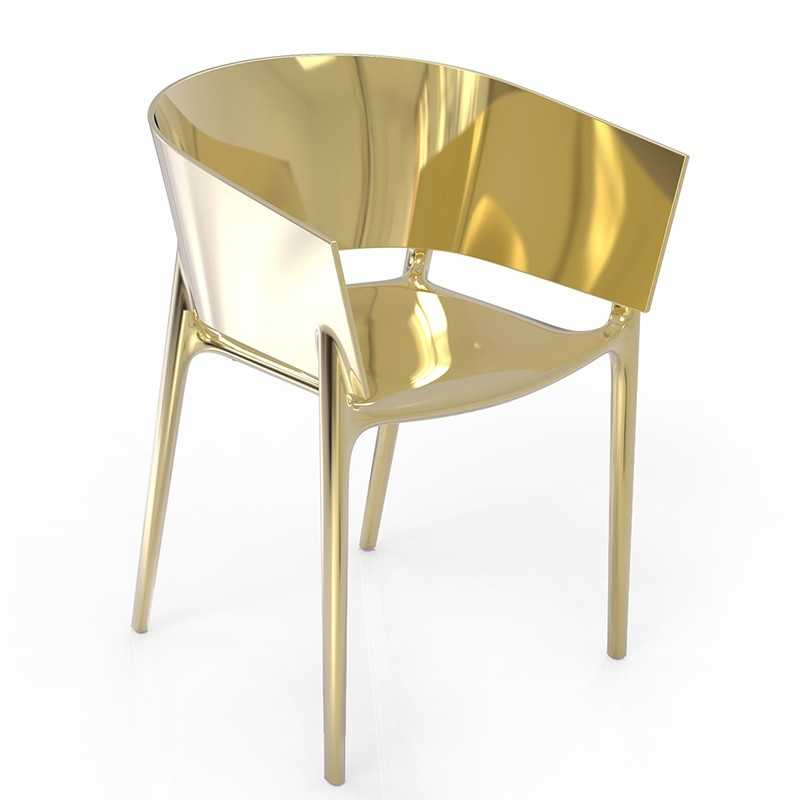 AFRICA GOLD Chair Chromed Gold - Vondom