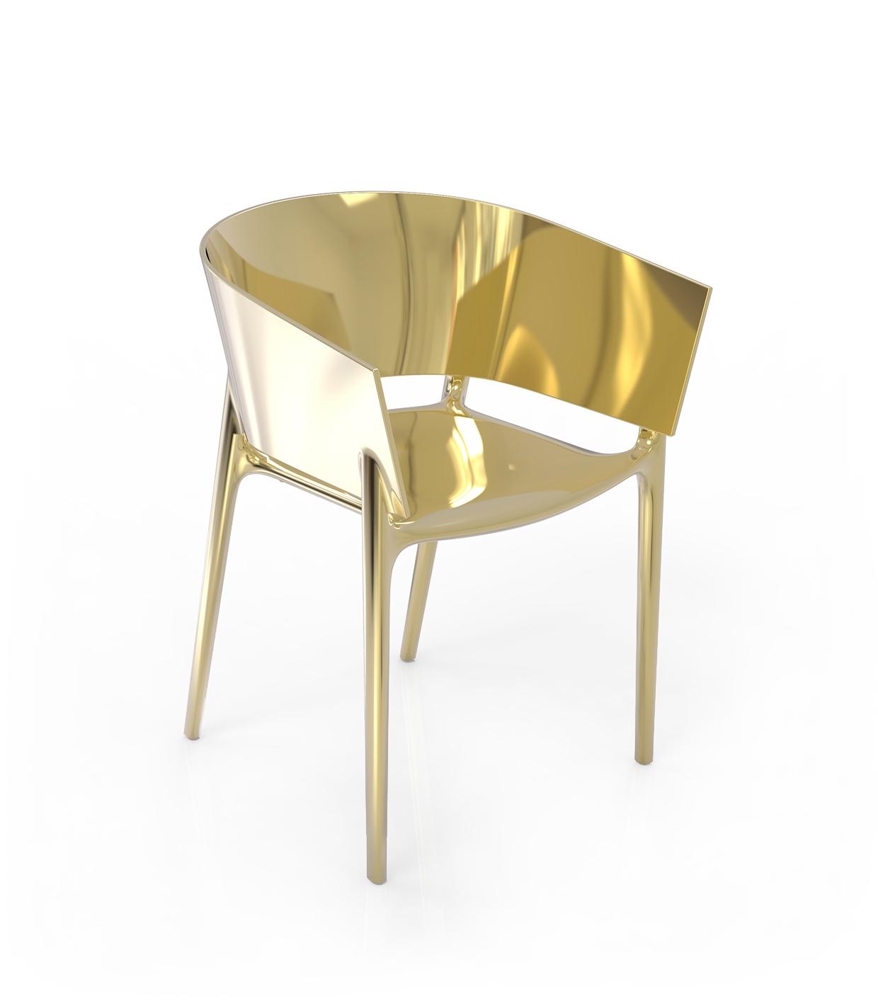 Africa Gold Chair Chromed Gold Vondom