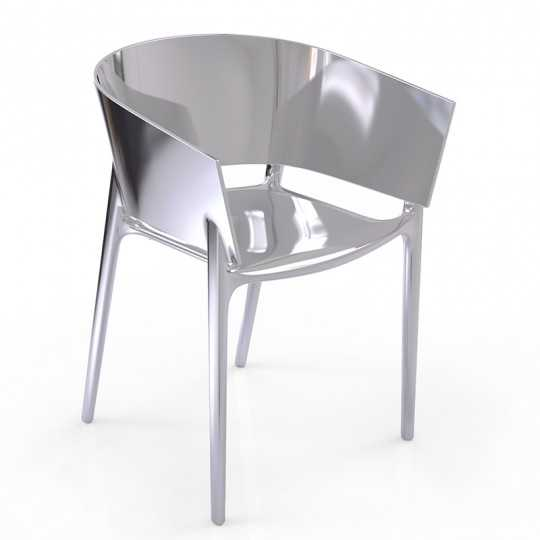 AFRICA SILVER Chair Chromed Silver - Vondom