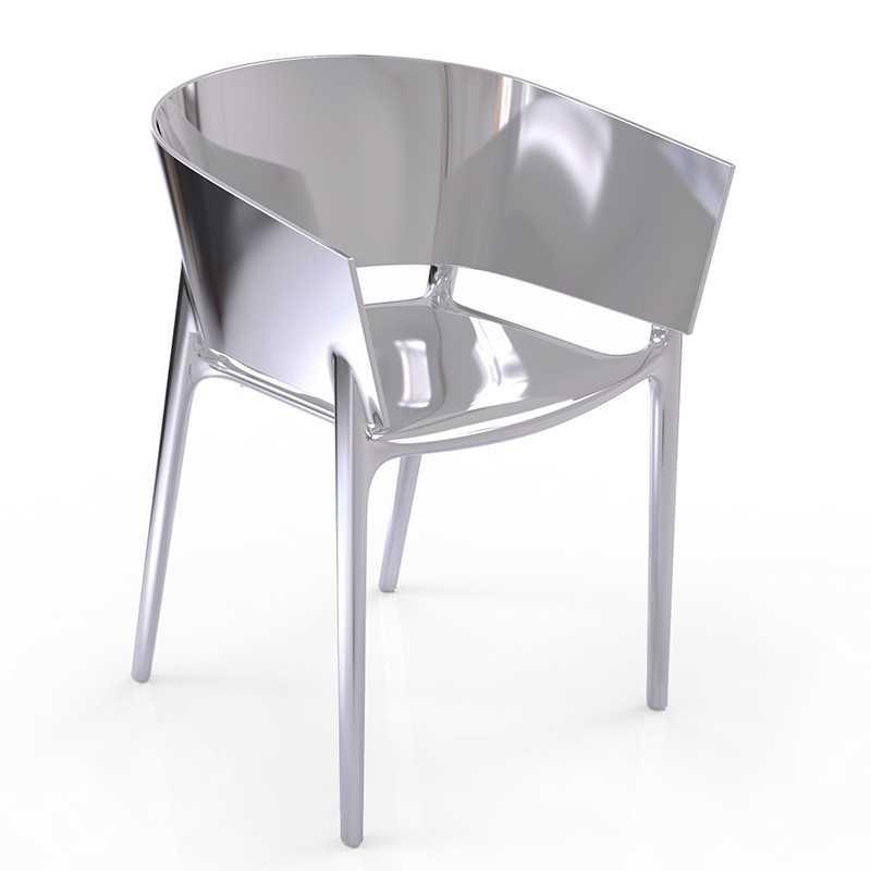 Merveilleux AFRICA SILVER Chair Chromed Silver   Vondom