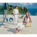 AFRICA GOLD and SILVER Outdoor Stackable Chrome Silver Restaurant Seats by Vondom