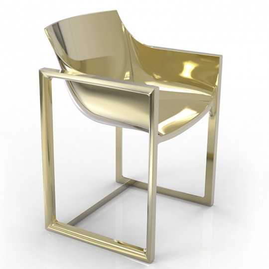 WALL STREET GOLD Chair Laquered Golden - Vondom