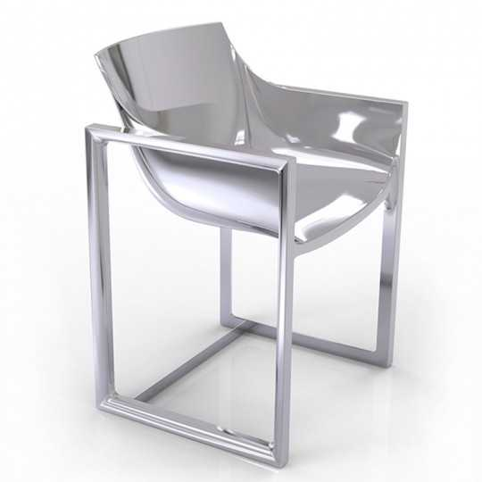 WALL STREET SILVER Chair Laquered Silvery - Vondom