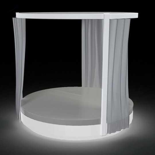 VELA DAYBED Rond Lumineux Blanc Pergola - VONDOM