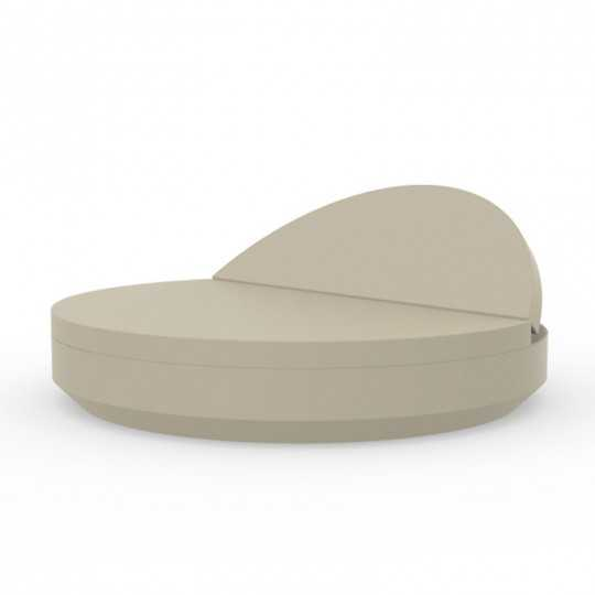 VELA DAYBED Rond Inclinable Laqué - VONDOM