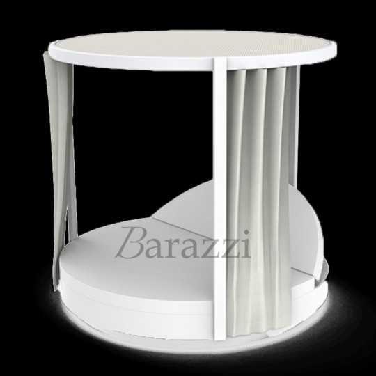 VELA DAYBED Rond Inclinable Pergola Lumineux Blanc - VONDOM
