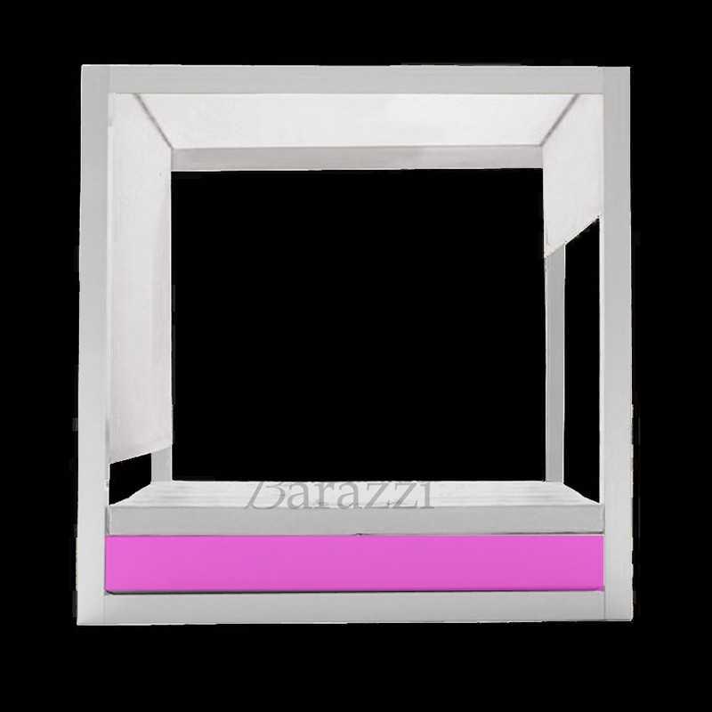 VELA DAYBED Square RGB LED Light Canopy with Blind - VONDOM